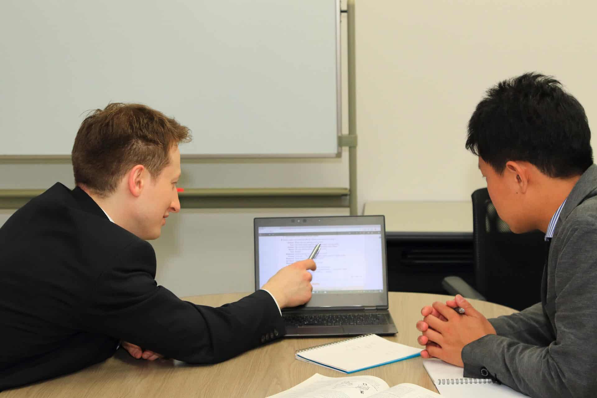 ビジネス英会話のクラスで、海外からくる外国人のために家探しのお手伝いをしています